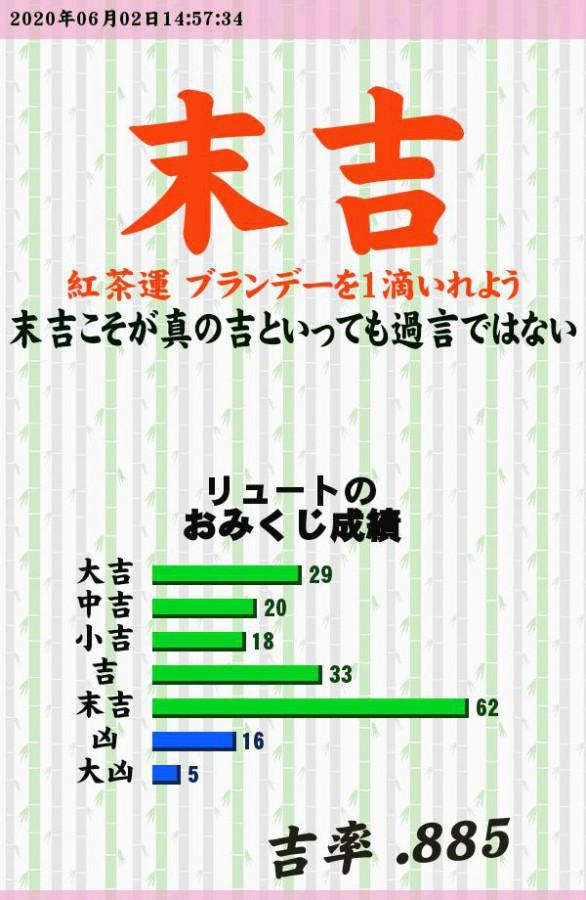 """今日のおみくじ!<br /> 紅茶飲みたい(*´・ω・)<br /> <a style=""""text-decoration: none;"""" href=""""http://eam.573.jp/app/web/toOther.php?url=http%3A%2F%2Fp.eagate.573.jp%2Fgate%2Fe%2Ftoomikuji.html%3Ffrom%3Darticle"""">http://p.eagate.573.jp/gate/e/toomikuji.html?from=article</a>"""