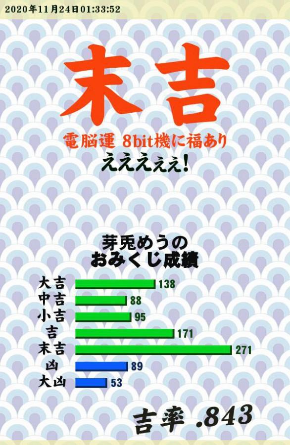 """今日のおみくじ!(´・ω・`)<br /> <br /> 朝だめう!皆様、おはよーめうっ!<br /> <a style=""""text-decoration: none;"""" href=""""https://eam.573.jp/app/web/toOther.php?url=http%3A%2F%2Fp.eagate.573.jp%2Fgate%2Fe%2Ftoomikuji.html%3Ffrom%3Darticle"""">http://p.eagate.573.jp/gate/e/toomikuji.html?from=article</a>"""