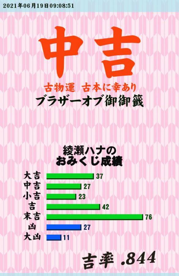 """今日のおみくじ!<br /> 古本いっぱいありますよ!<br /> <a style=""""text-decoration: none;"""" href=""""https://eam.573.jp/app/web/toOther.php?url=http%3A%2F%2Fp.eagate.573.jp%2Fgate%2Fe%2Ftoomikuji.html%3Ffrom%3Darticle"""">http://p.eagate.573.jp/gate/e/toomikuji.html?from=article</a>"""