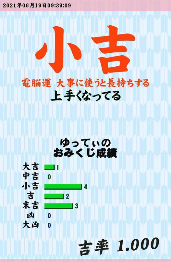 """今日のおみくじ!<br /> 久々に引いた?<br /> <a style=""""text-decoration: none;"""" href=""""https://eam.573.jp/app/web/toOther.php?url=http%3A%2F%2Fp.eagate.573.jp%2Fgate%2Fe%2Ftoomikuji.html%3Ffrom%3Darticle"""">http://p.eagate.573.jp/gate/e/toomikuji.html?from=article</a>"""